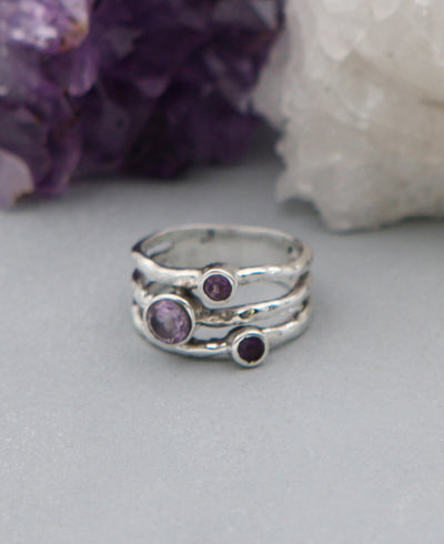 Triple Amethyst Ring