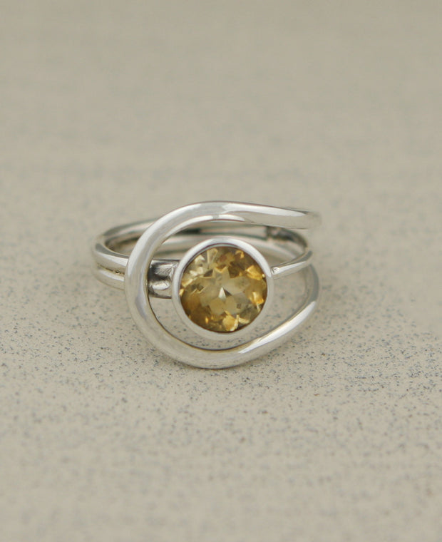 Gemstone Loop Ring