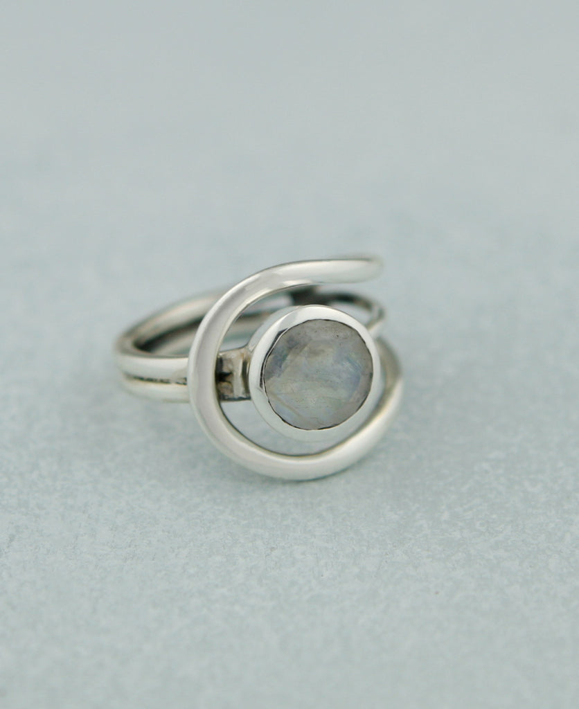 Moonstone Loop Ring