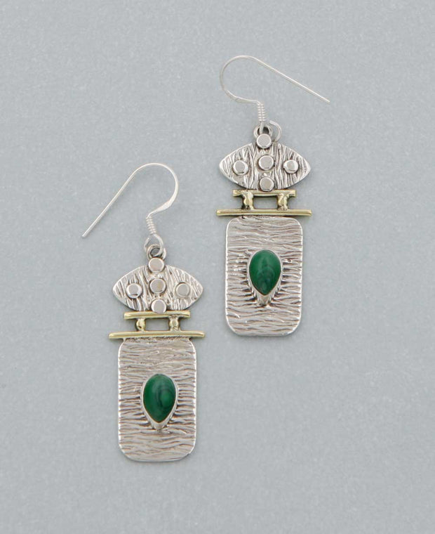 Gemstone Tribal Earrings