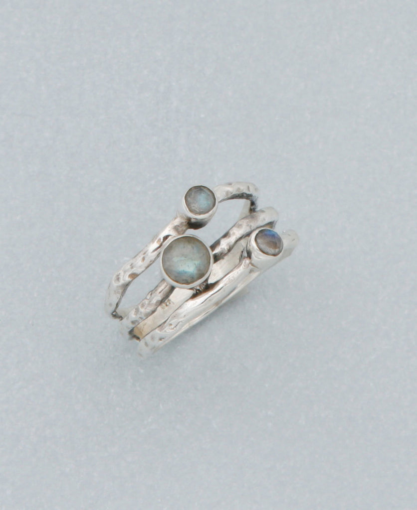 Triple Labradorite Ring