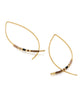Beaded Gold-Fill Threader Earrings, South Korea