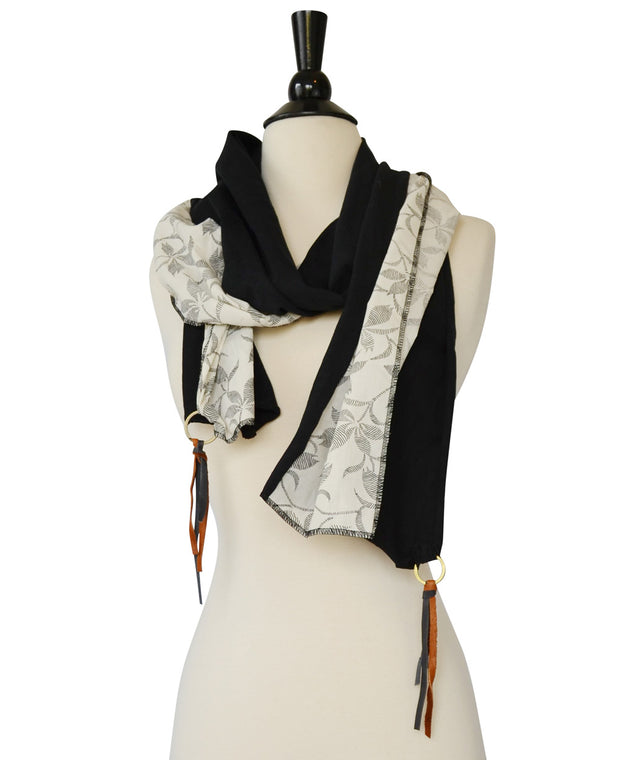 Floral Leather Scarf