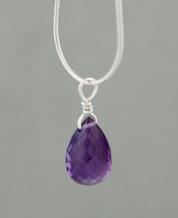 Gemstone Glitter Drop Pendant