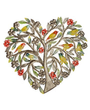 Fair Trade Painted Tree of Life Heart Art