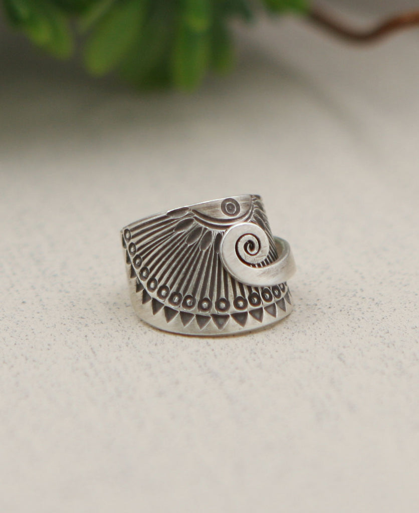 Eye of the Sun Ring, Hill Tribe Silver