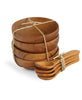 Eco-Friendly Teak Wood Bowl and Spoon Set, Thailand