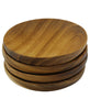 Set of 4 Eco-Friendly Miniature Wooden Pinch Bowls, Thailand