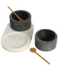 Minimalist Marble Salt and Pepper Bowls, Fair Trade