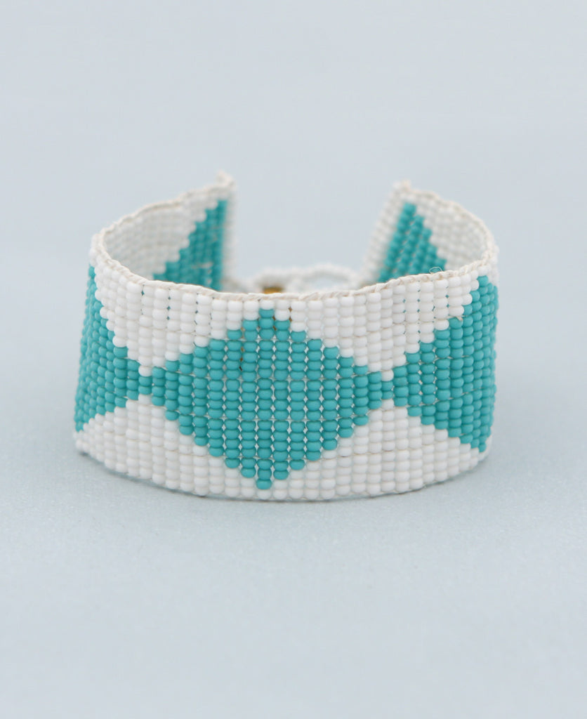 Diamond Pattern Bead Bracelet, Kenya