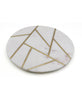 Brass and Marble Geo Serving Tray