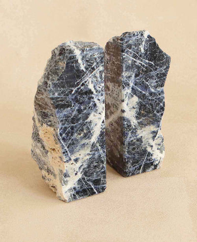 Blue Sodalite Gemstone Bookends