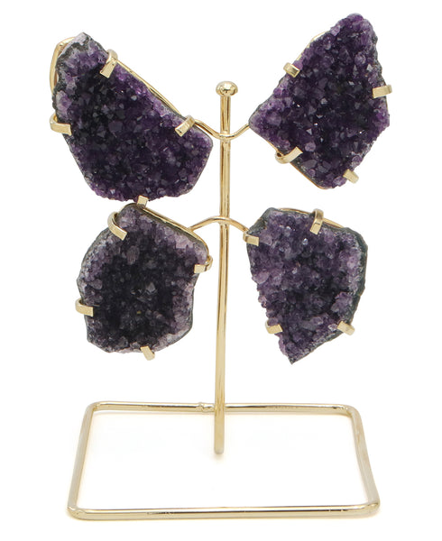 Amethyst Abstract  Butterfly Sculpture