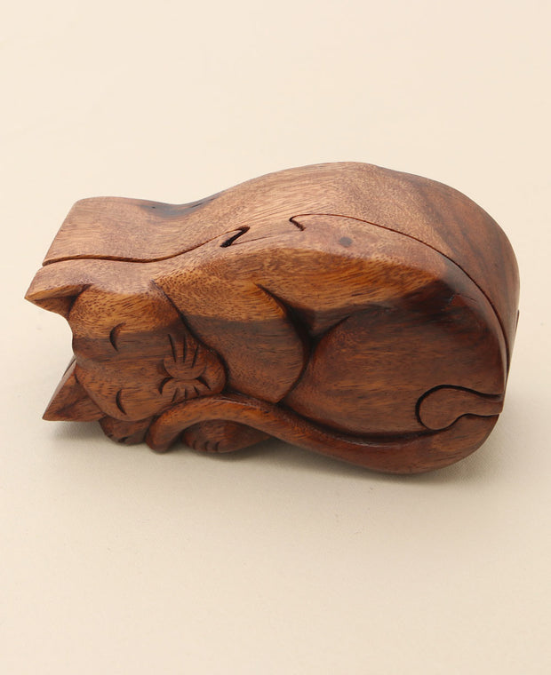 Napping Cat Puzzle Box
