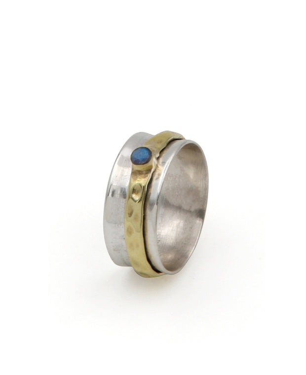 Spinning Labradorite Worry Ring