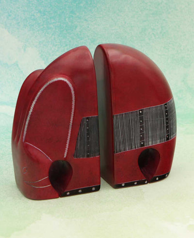 African Soapstone Bookends