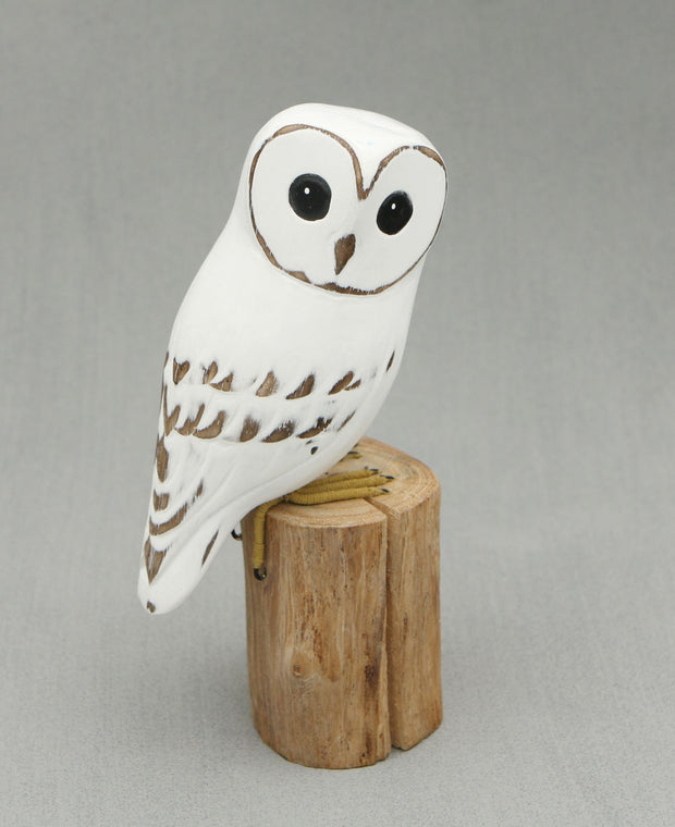 Hand-Painted Barn Owl Statue, Indonesia