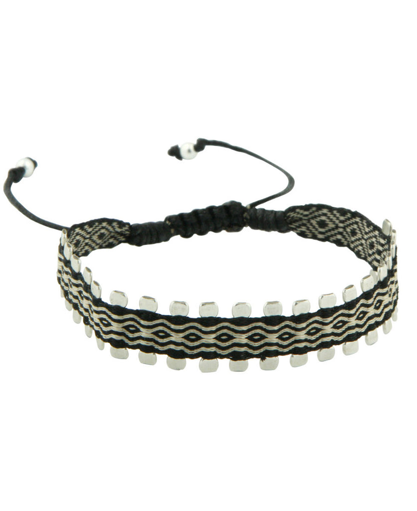 Black and Silver Sawtooth Bracelet, Colombia