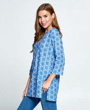 Cotton Tunic Blue