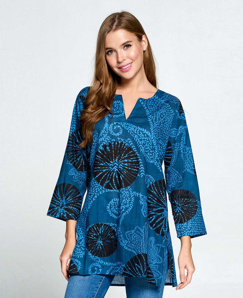 Blue Indian Kurti Tunic