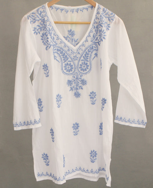 Blue Blossoms Blouse