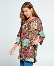 Brown Tunic Top