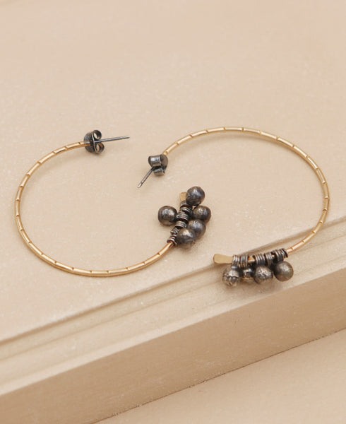Crescent Moon Lunar Hoop Earrings, USA