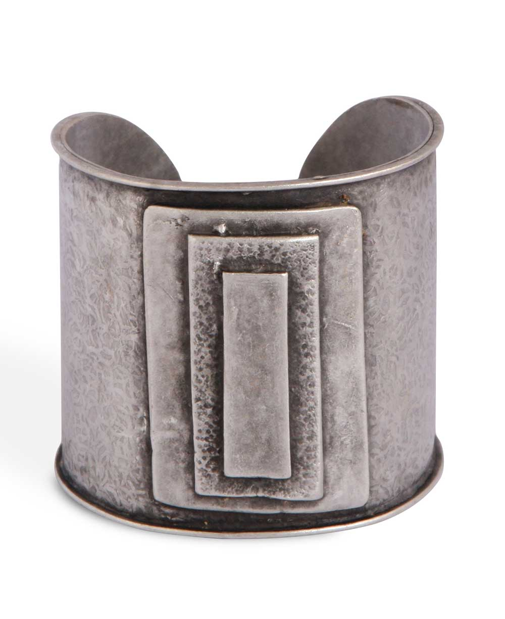 Modern Turkish Cuff Bracelet With Artistic Reliefs Cultural Elements