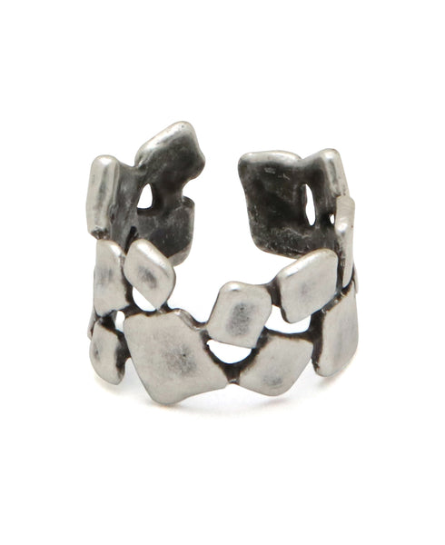 Blocks of Life Pewter Adjustable Ring