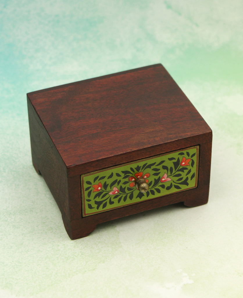 Floral Wooden Chest