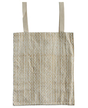 Fair Trade Metallic Block Print Tote Bag, India