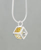 Sterling Silver Gemstone Cube Pendants