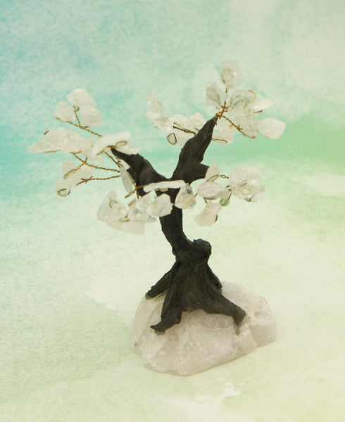 Clear Quartz Gemstone Bonsai Tree