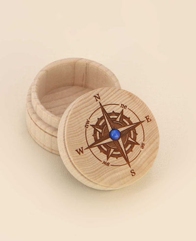 Compass Design Wooden Dream Box, USA