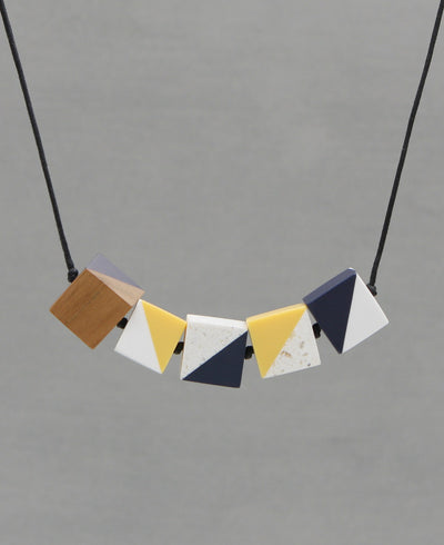 Colorful Cube Necklace