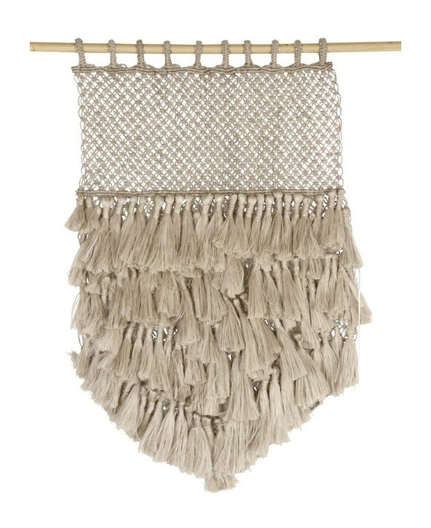 Fair Trade Jute Tassel Macrame Wall Art
