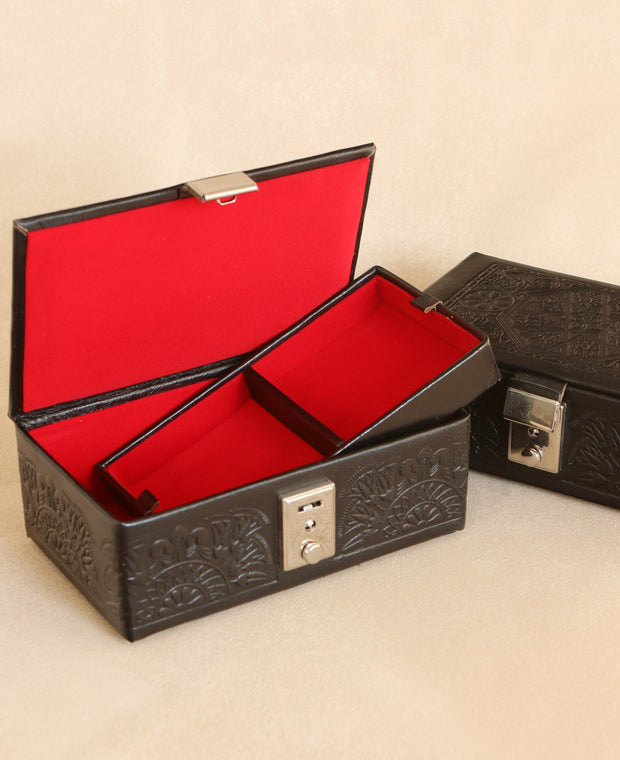 Egyptian Leather Jewelry Box