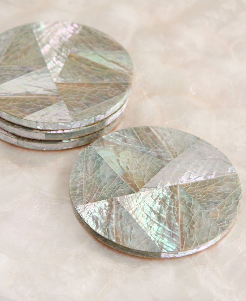 Geometric Capiz Shell Coasters, Philippines