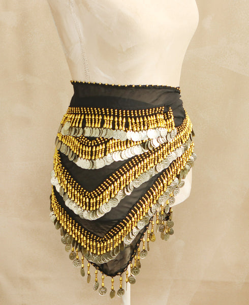 Black Egyptian Belly Dance Scarf