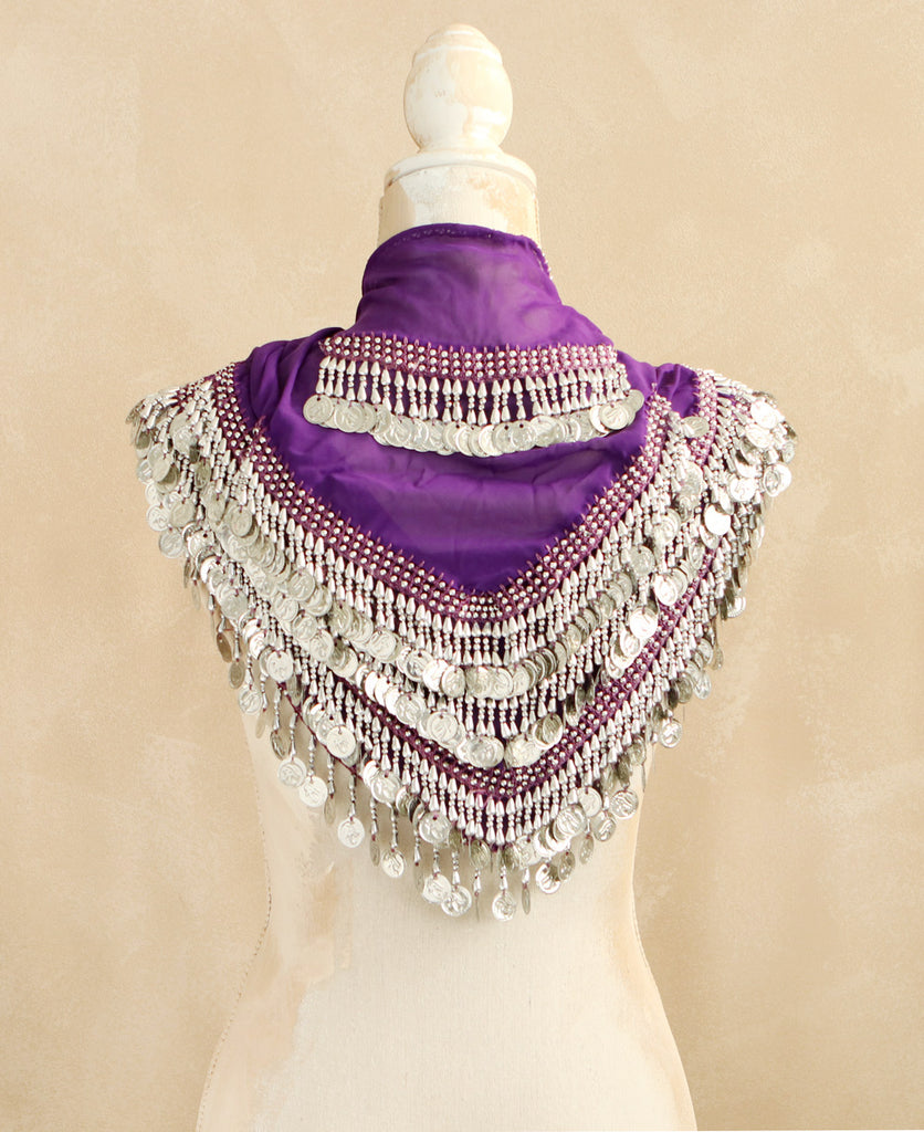 Purple Egyptian Belly Dance Scarf