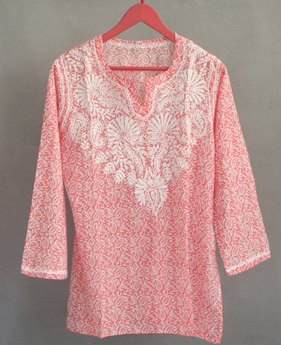 Paisley Coral Blouse
