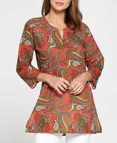 Red Cotton Tunic
