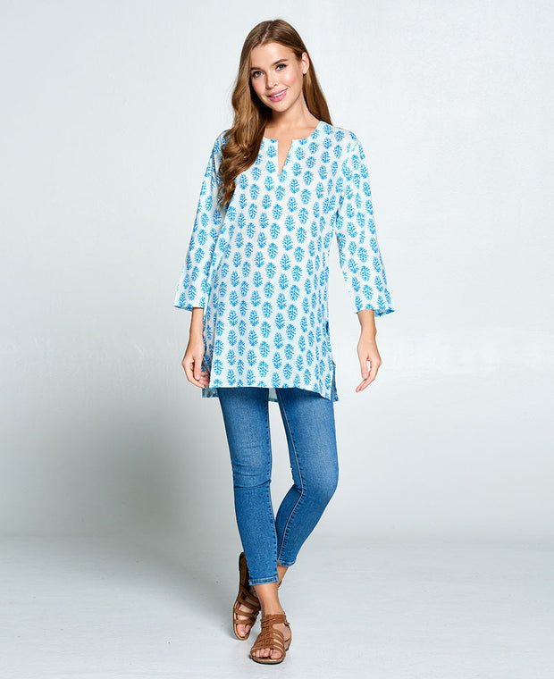Blue Indian Tunic