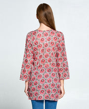 Women's Pink Aster Tunic, India
