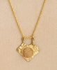 Druzy Brass Arrowhead Necklace