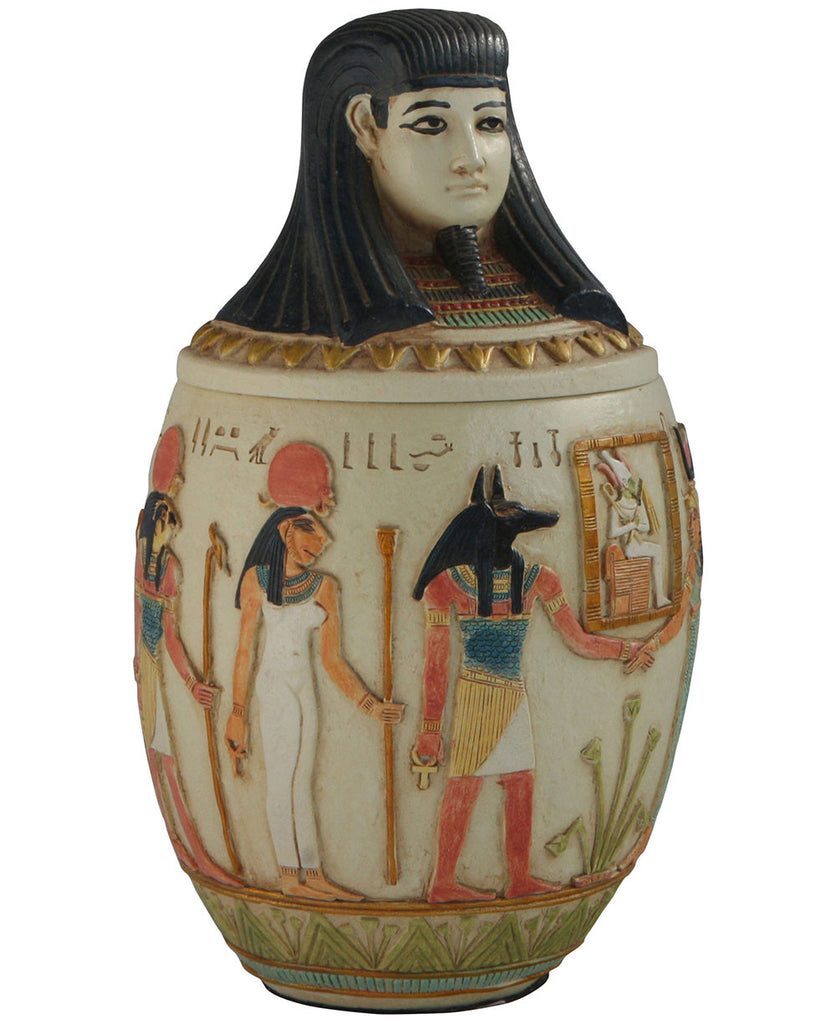 Canopic Jar of Imsety, Egyptian Statue