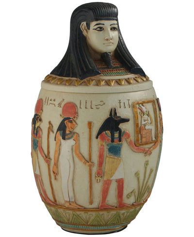 Imsety Egyptian Statue Jar