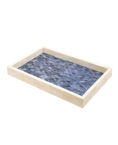 Blue Bone Serving Tray