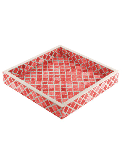 Coral Serving Tray