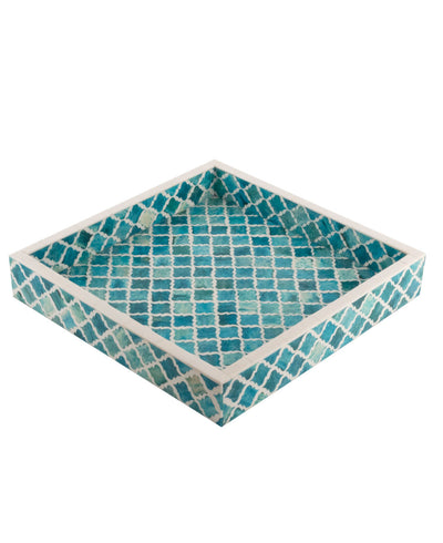 Moorish Mosaic Turquoise Serving Tray